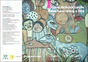 Cover and back cover of the programme of the II Refresher Course on Tuberculosis and AIDS